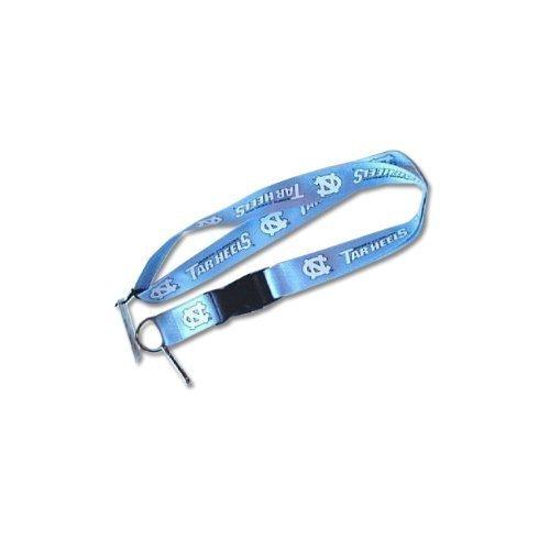 Aminco NCAA North Carolina Tarheels UNC Reversible Lanyard Keychain Id Holder - Blue