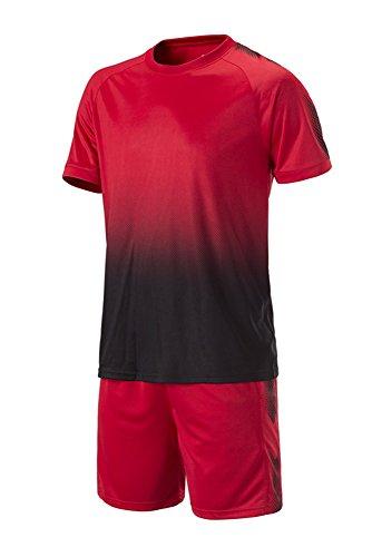 fd3619a9a7e2d BOZEVON Hombres Niño Ropa de Fútbol Traje de Camiseta y Pantalones Cortos  Entrenamiento Competencia Ropa de Deporte Conjunto  Amazon.es  Ropa y  accesorios