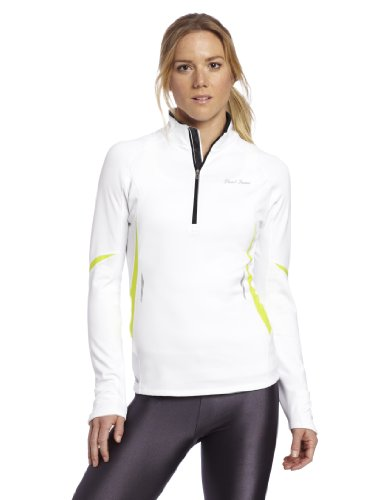 PEARL IZUMI Women's Fly Thermal Top, White/Lime, Medium