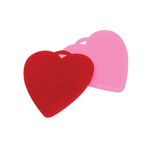 (Premium Balloon Accessories Heart-Shaped 100 Gram Balloon Weights, 10 Count, Red & Pink)