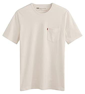 2fd032f6 Levi's Men's Sunset Pocket Short Sleeve T-Shirt, off-white (20 Whitesmoke