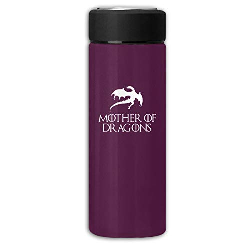 BOSIJCAI New Thermal Bottle New Way 691 - Women's Long Sleeve T-Shirt Mother of Dragons Game of Thrones Targaryen Frosted Business Thermal Cup for Hot/Cold Drink Coffee Or Tea Purple