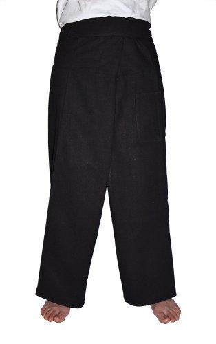 MangoNest Men's and Women's Unisex Thai Fisherman Pants-Black ()