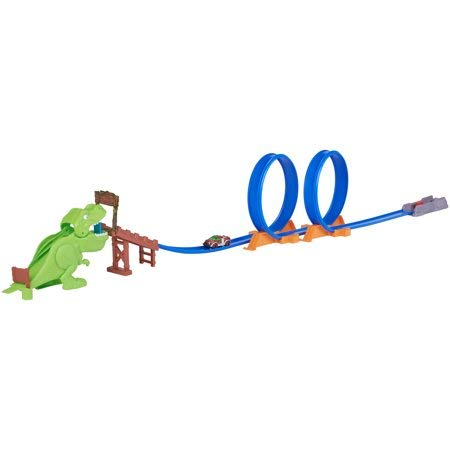 - Fun and Dynamic, Prehistoric-Themed Race Track Set Adventure Force Double Loop Chomp and Crunch 7.9' Track Set,Ideal Gift for Any Kids Who Love Racing,Cars,Dinosaurs and More