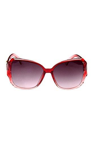 Sol Mujeres De Las Rojo Gran 100 Tamaño Gafas Polarizadas De Clasico Proteccion UV vxqxdBz