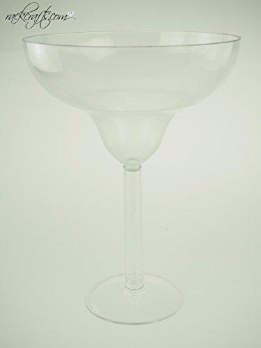 rackcrafts.com Jumbo Giant Large Big Plastic Wine Champagne Martini Margarita Cups Glass Drink (Big Margarita Glass)