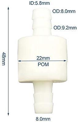 v/álvula de retenci/ón unidireccional aceites de gasolina para combustibles agua gas aire l/íquido v/álvula de retenci/ón en l/ínea de no retorno de 4 mm//6 mm//8 mm//12 mm gas/óleo