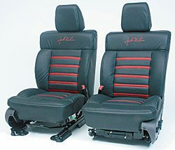 (Roush R13030035 Leather Seating (Super Crew Black/Red))