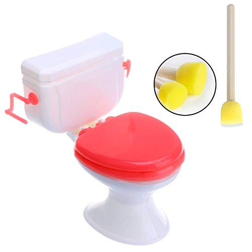 Hosfairy Dolls Mini Toilet Toys Cake Decor | with Toilet Brush Doll Accessories for Girl Gift