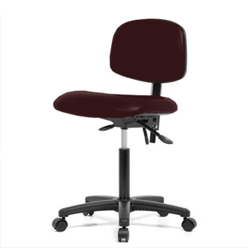 perch rolling lab chair with adjustable back support for medical
