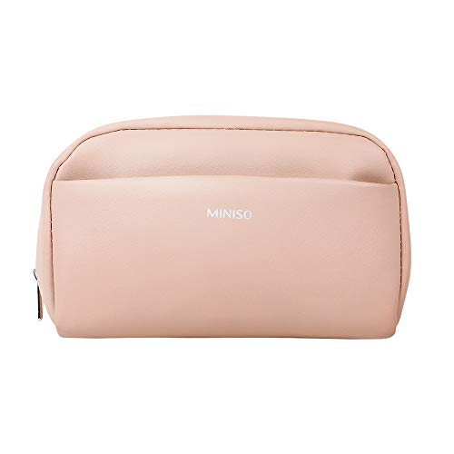 MINISO Large Fashionable Cosmetic Bag Portable Makeup Pouch for Womens Multifunctional Travel Storage Toiletry Bag(Pink)