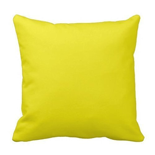 Canary Yellow Bright Fashion Color Trend Square Custom Throw Pillow Case Cushion Cover Pillowcase Pillow Cover 18 * 18