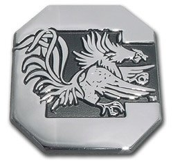 South Carolina Gamecocks Premier Chrome Metal Auto Emblem by Elektroplate