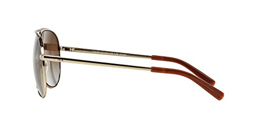 Armani Exchange Metal Unisex Polarized Aviator Sunglasses, Light Gold/Dark Brown, 61 mm by A X Armani Exchange (Image #4)