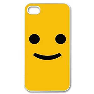 HB-P-CASE DIY Design Smile Face Pattern Phone Case For Iphone 4/4s