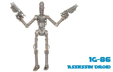 Star Wars Animated (Star Wars Clone Wars Animated Action Figure No. 18 IG-86 Assassin Droid)