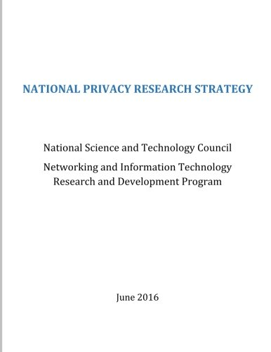 National Privacy Research Strategy