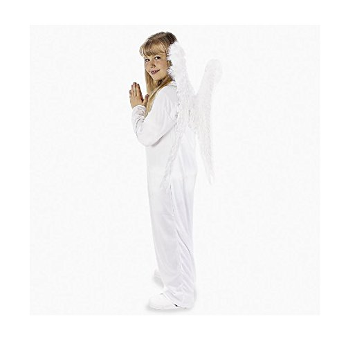 Polyester White Angel Gown. Each piece bar coded. (1 pc./PB with color insert) Child Large (11-14). (Angel Gown Costumes)