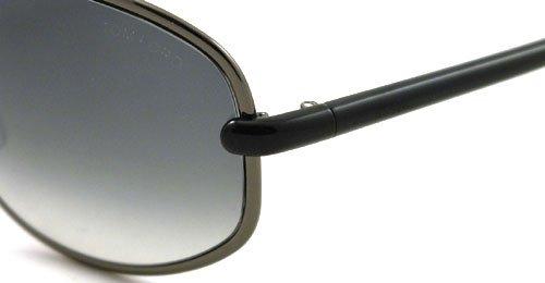 Tom Ford Lunettes de soleil 0160 Brigitte Pour Femme Gunmetal / Black / Grey gradient 08B: Gunmetal / Black