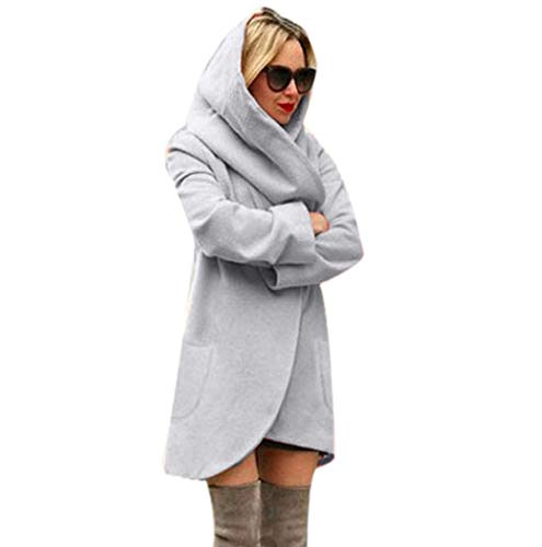 Lana Donne Coat Hooded Signore Thin Clearance Di Cappotto Ladies Tuduz Gray Tuduz Hoodies Woolen Top Giacca Sottile Hoodies Autumn Spazio Women Overcoat Incappucciati Irregular Le Casuali Grigio Loose Jacket Superiore Casual Irregolare Cappotto Autunno Allentato xXxgR