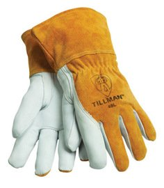 John Tillman Glove Mig/Tig Goatskin Palm Cowhide Split Back Size X-Large With Straight Thumb Elastic Bac -1 Dozen Pairs