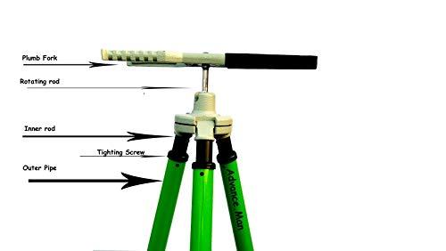 Advance.Man Alligator Clamp Tripod Holds Prism GPS Pole, Seco Leica CST Topcon Trimble Survey