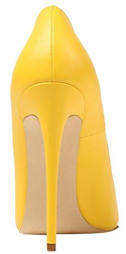 AP09N Zapatos para AOOAR Gelb Sintético Pu Mujer Vestir de de wgq57qd