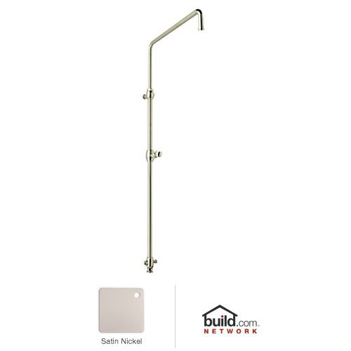 Rohl 1560STN Country Bath Swiveling Riser with Diverter Hose and Sliding Hand Shower, Satin Nickel by Rohl