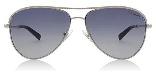 Tiffany TF3062 60014L Silver TF3062 Pilot Sunglasses Lens Category 2 Size ()