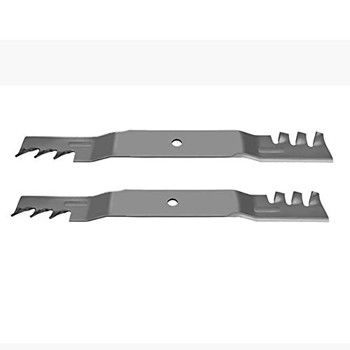 (2) Toothed Mulching Mower Blades for Toro Timecutter 42