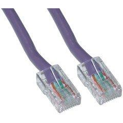 Bootless QualConnectTM Cat5e Purple Ethernet Patch Cable 2 ft
