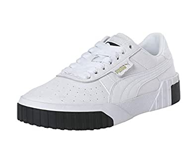 PUMA Women's CALI WN's Sneakers, Puma White-puma Black, 6 US