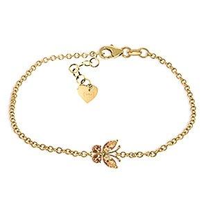 QP joailliers Bracelet en or 9carats Citrine Naturelle, 0,60ct Coupe Marquise-5024y