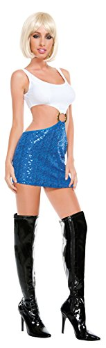 Starline Women's Hollywood Honey Sexy Costume Dress, Blue/White, Small