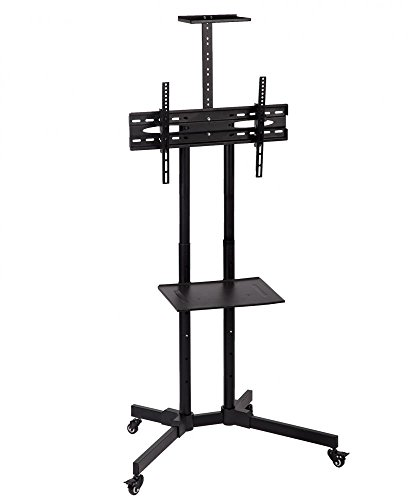 TV Cart Stand With Mount, For Plasma LCD LED Flat Screen Pan