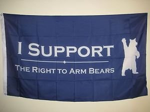 I Support the Right to Arm Bears Anti Gun Control Hunting, used for sale  Delivered anywhere in USA