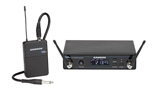 Samson Concert 99 Guitar Frequency-Agile UHF Wireless System with GC32 Guitar Cable (D Band) (Guitar Agile)