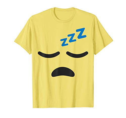 Sleeping Face Tired Emoji Easy Lazy Group Halloween Costume T-Shirt