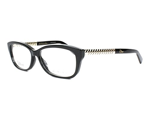Christian Dior Eyeglasses 3258 RHP Black / Light Gold 54 ()
