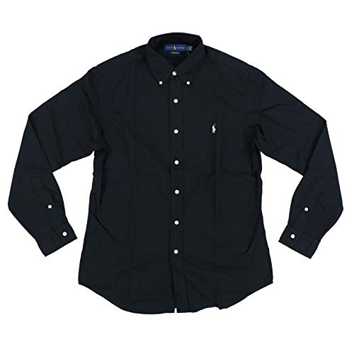 Polo Ralph Lauren Mens Classic Fit Oxford Longsleeve Buttondown Shirt (X-Large, Black) -
