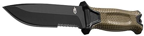 Gerber 30-001059 StrongArm Fixed Blade Knife, Serrated Edge, Coyote - Modular Knife Sheath