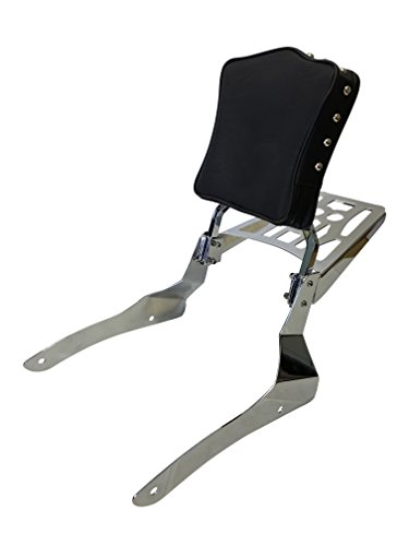 Studded - Sissy Bar Backrest & Luggage Rack for 2001-2004 Suzuki Volusia 800 / 2005-up Suzuki Boulevard C50 / 2005-2009 Suzuki Boulevard M50