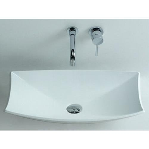 ID Shell Solid Surface Vessel Sink Bowl Above Counter Sink Lavatory Washbasin by ID Bath Collection