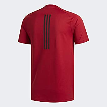 adidas Mens Freelift Sport Fitted 3-stripes Tee