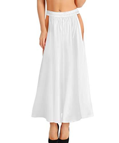 FEESHOW Satin Belly Dance Skirt for Women Belly