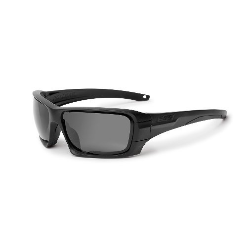 ESS Sunglasses Black Rollbar Silver Logo Kit w/Interchangeable Lenses