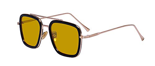 Outray Avengers Infinity War Tony Stark Sunglasses Iron Man Glasses Rectangle Vintage Trendy ()