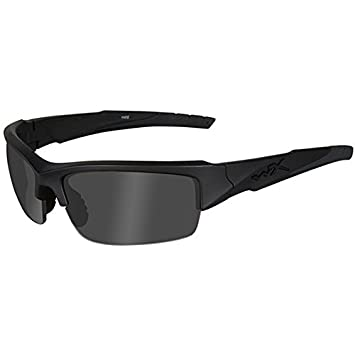 Wiley X Wx Valor Gafas de Sol, Unisex, Matte Black/Ops Smoke Grey