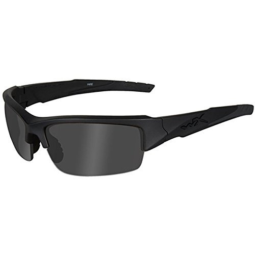Wiley X Valor Sunglasses (Smoke Grey Lens, Matte Black Frame)