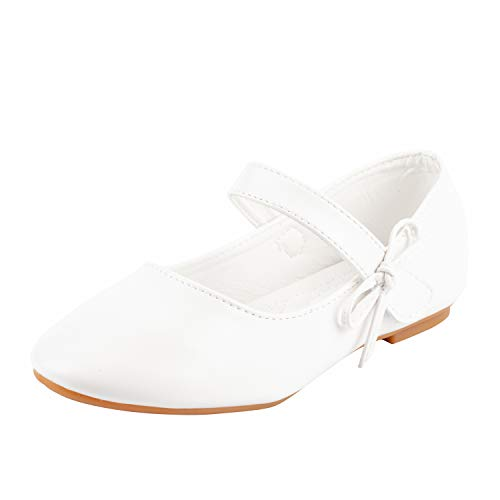 Nova Utopia Toddler Little Girls Ballet Flat Shoes,NF Utopia Girl NFGF320 White -